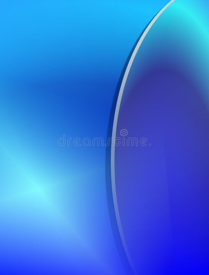 Blue Gradient Background. Gradient blue spheres with lens light for background