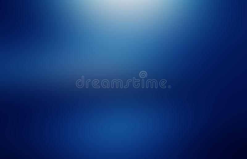 Blue gradient background. Abstract illustration of deep water royalty free stock image