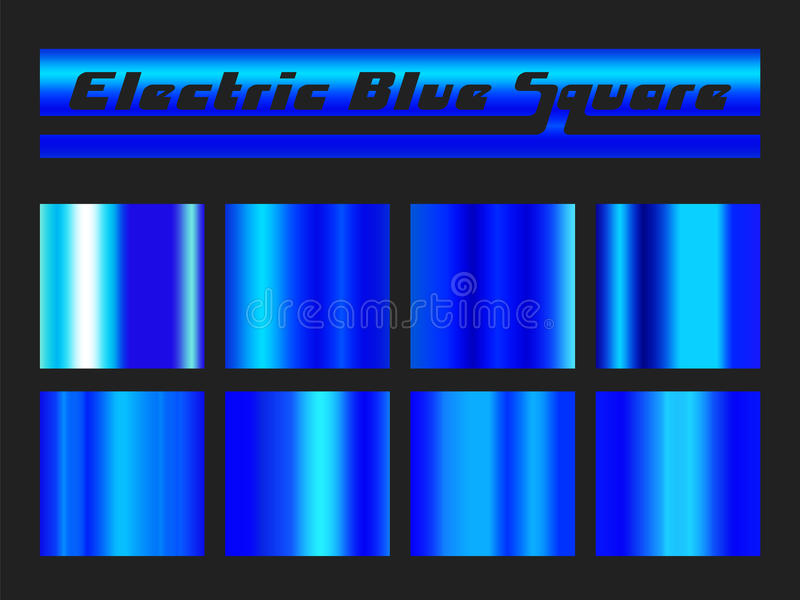 Blue gradient square set vector illustration