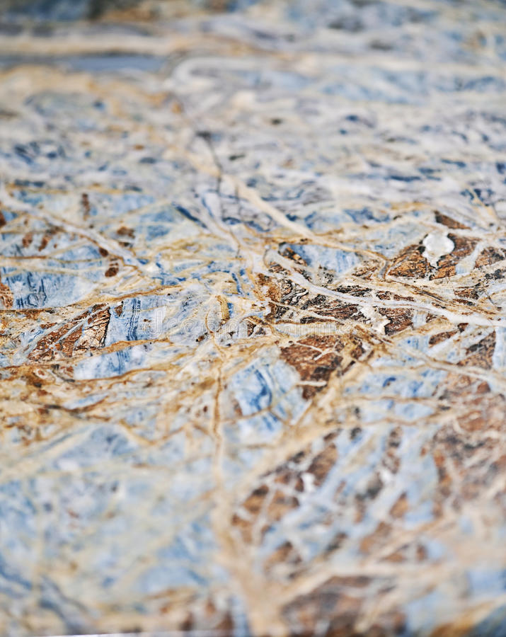 Blue granite texture. A close-up of blue granite counter top surface stock images