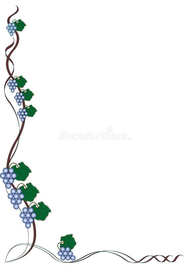 Free Blue Grape Border Stock Image - 8830451