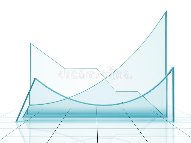 Blue Graph Royalty Free Stock Photos