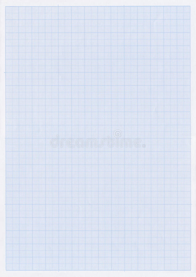 Blue graph or grid paper. Sheet of blue graph or grid paper with fine white lines stock photo