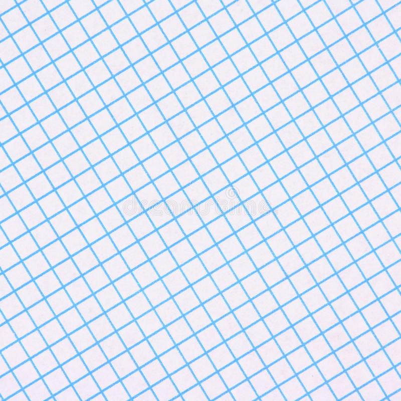 Blue Graph Paper Background. A sheet of blue and white graph paper photographed in a diagonal composition to provide a background royalty free stock photos