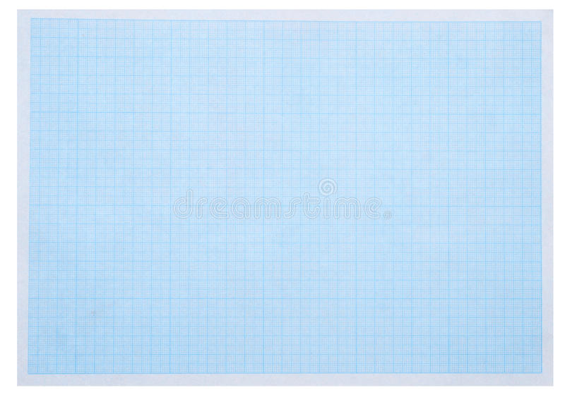Blue graph paper. Math concept with sheet of blue graph paper background royalty free stock photo
