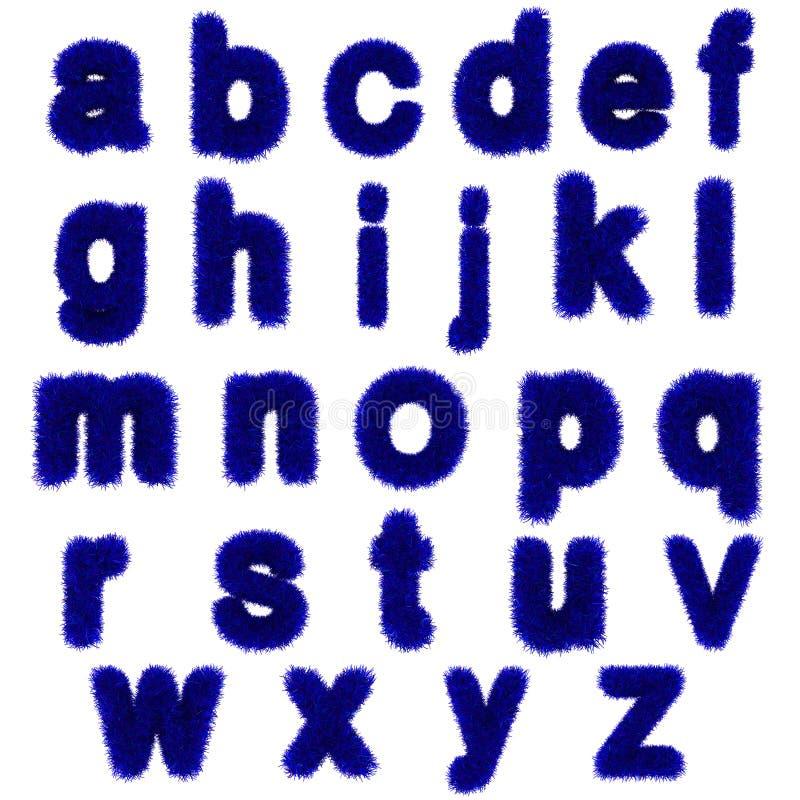 Blue grass letters, lowercase stock illustration