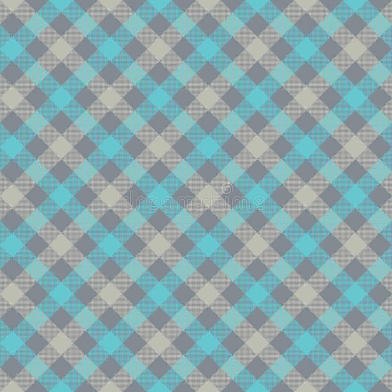 Blue Gray Check Plaid Fabric Texture Seamless Pattern Stock Vector ...