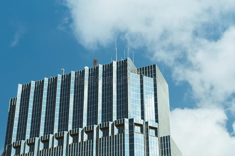 Blue and Gray Curtain Wall Building royalty free stock photos