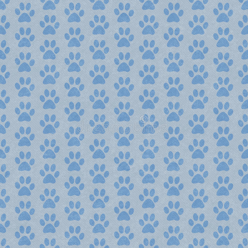 Blue and Gray Dog Paw Prints Tile Pattern Repeat Background vector illustration