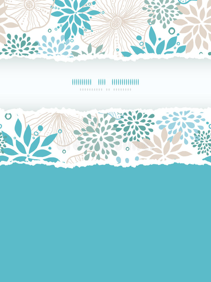 Download Blue And Gray Plants Vertical Torn Frame Seamless Stock Vector - Image: 32342431