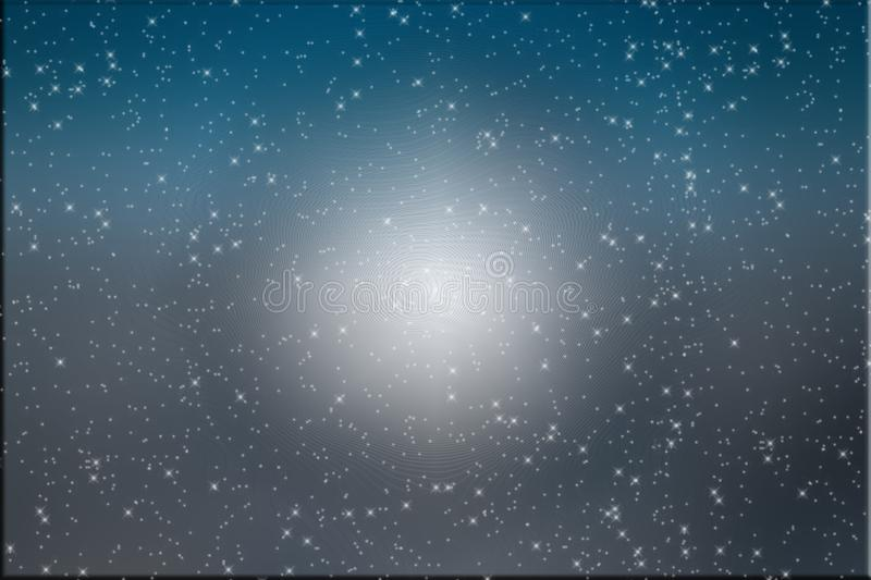 Blue and gray starry night background. With a bit of texture. Blue and gray night blend with a star effect. A small amount of texture for a background or royalty free stock images
