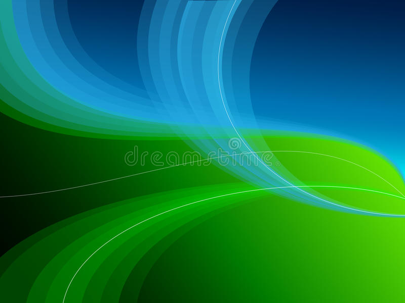 Blue green abstract background royalty free illustration