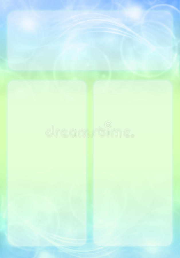 Blue And Green Abstract Brochure Design Royalty Free Stock Photo