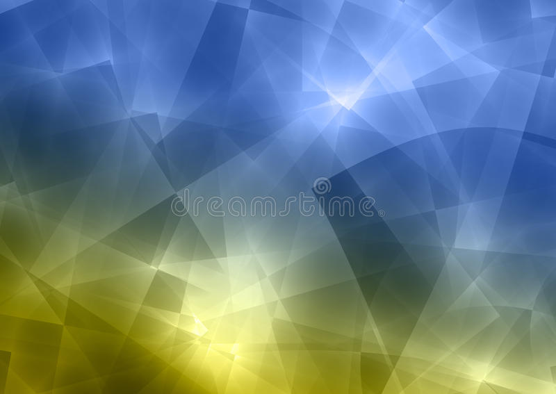 Blue and Green Abstract Transparent Background. Blue and green abstract background with transparent rectangular shapes stock illustration