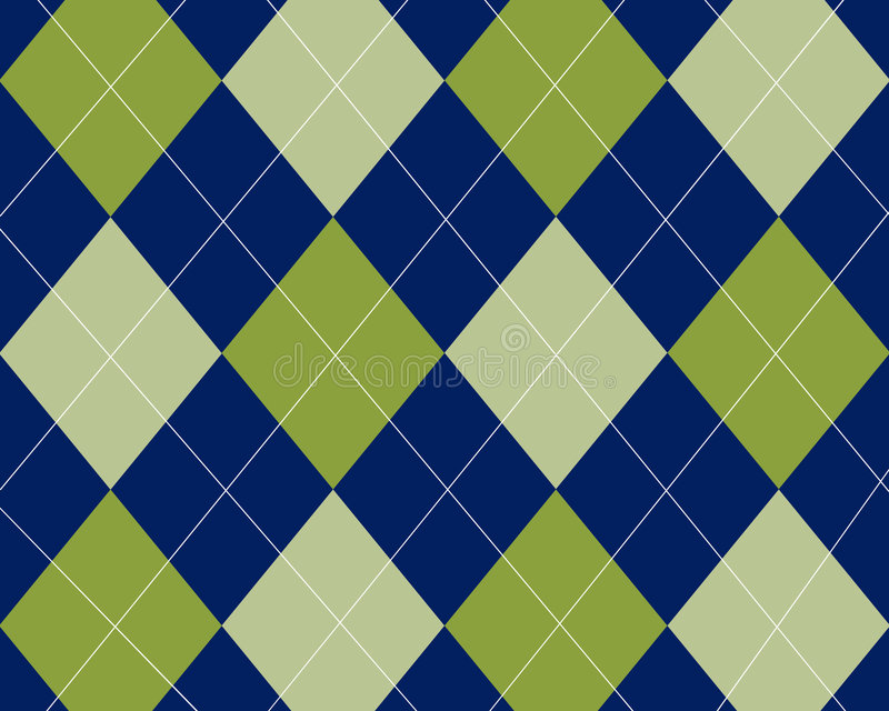 Blue And Green Argyle Stock Illustration. Illustration Of