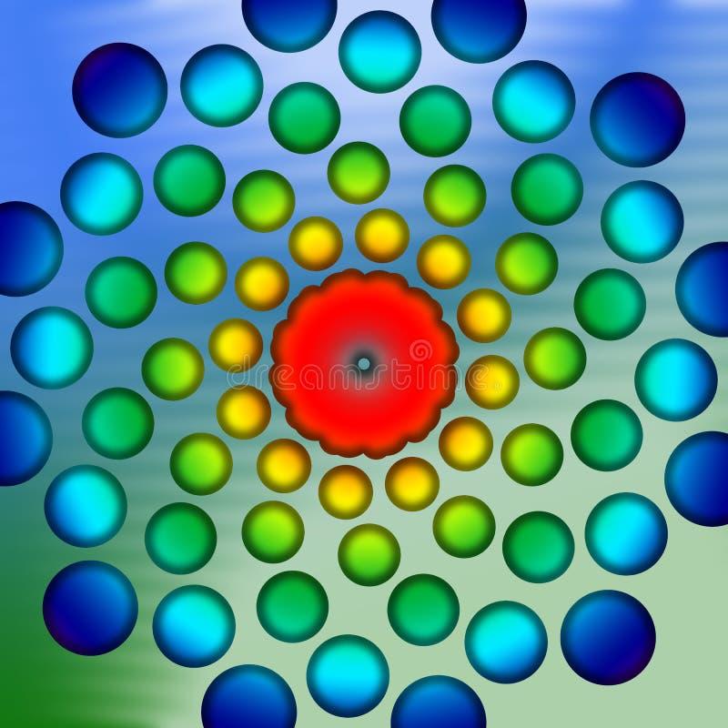 Download Blue Green Back Drop stock illustration. Image of flora - 3439177
