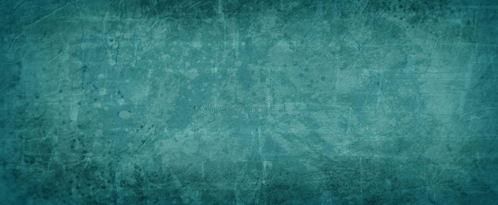 Blue green background texture, dark teal color with abstract vintage paint spatter texture with rock wall overlay design, elegant. Paper illustration vector illustration