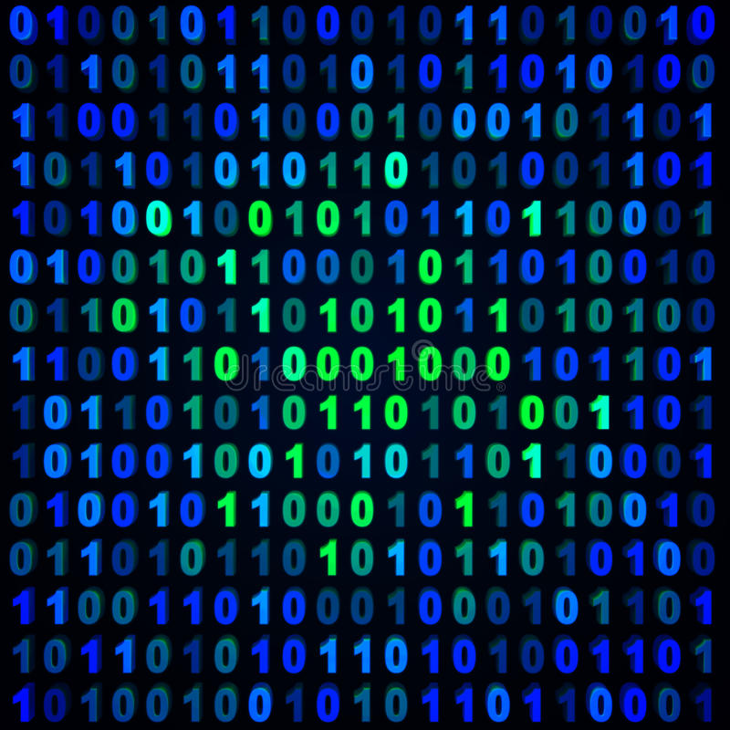 Blue and green binary stock images