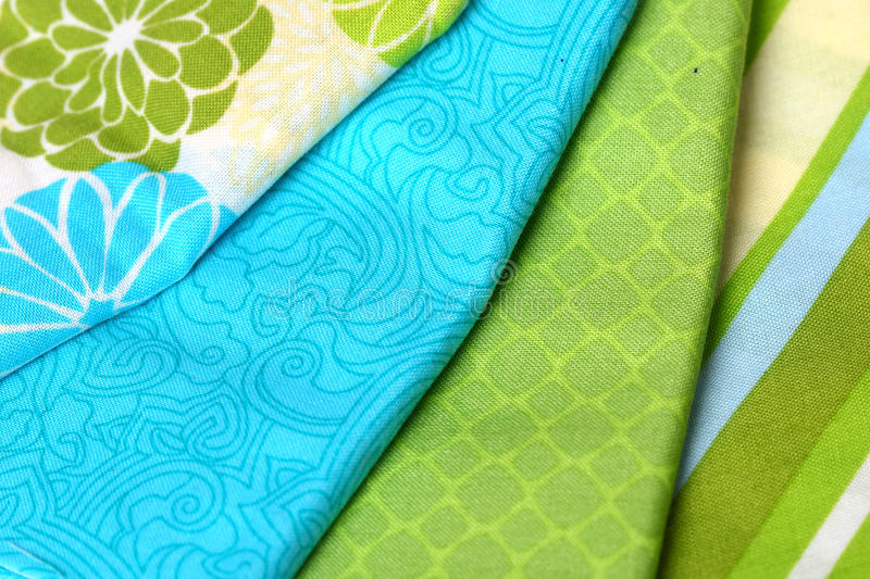 Download Blue And Green Colorful Palette Of Fabric Stock Photo - Image: 30329256