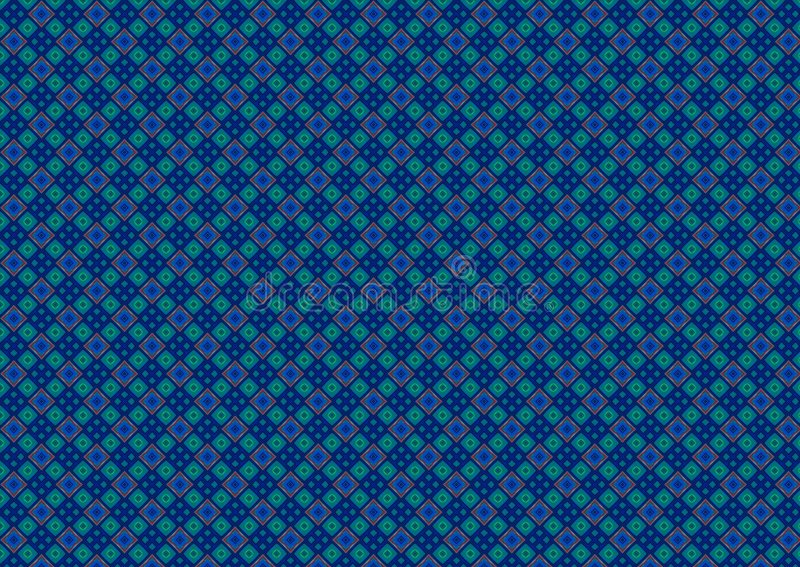 Blue Green Diamond Pattern stock illustration