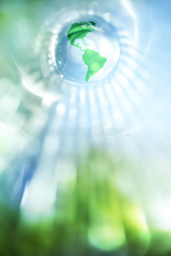 Blue and green earth stock photography