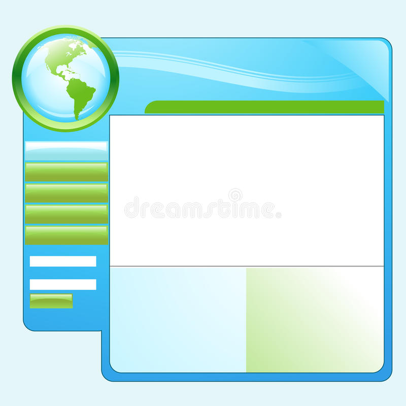 Download Blue Green Earth Website Template Stock Vector - Illustration: 10463432