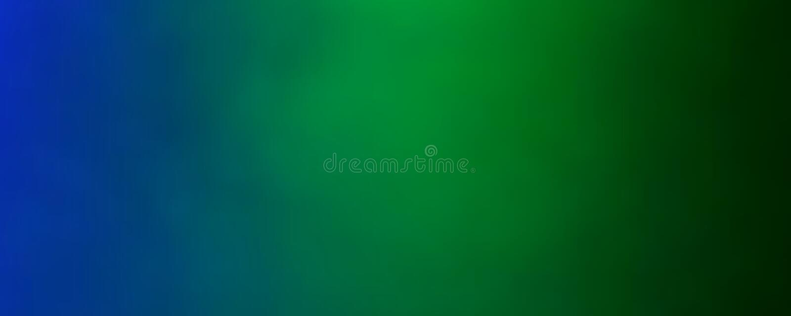 Blue And Green Background. Blue and green fading to black banner wallpaper background illustration vector illustration