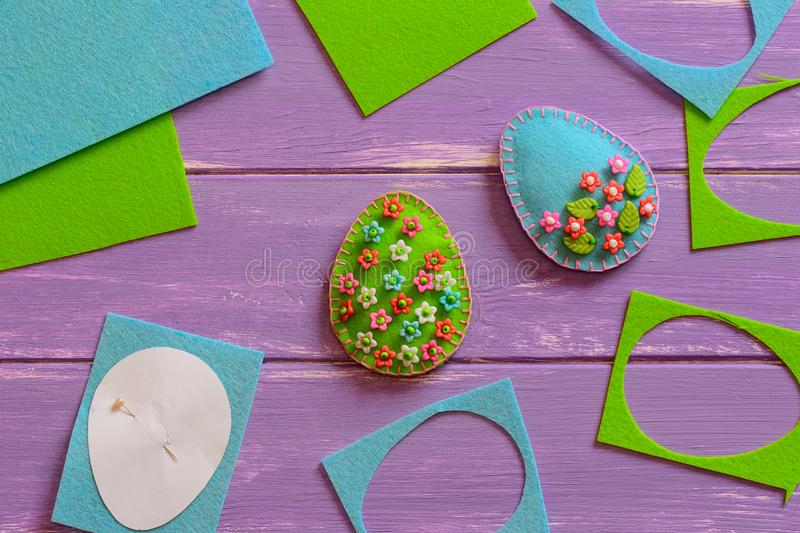 Download Blue And Green Felt Easter Eggs Scrap Sheets Paper Template On