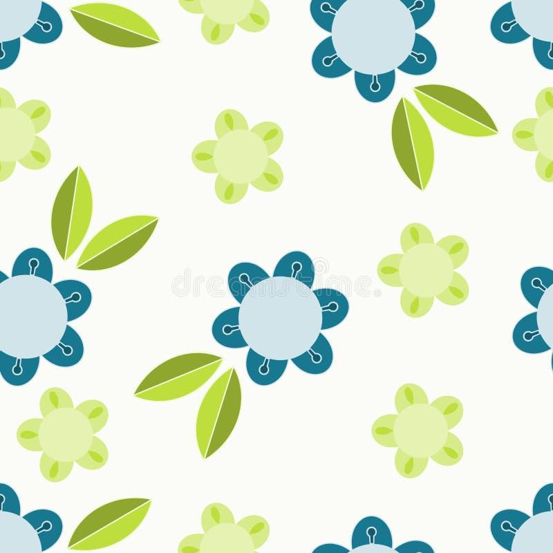 Blue and green flower vector illustration
