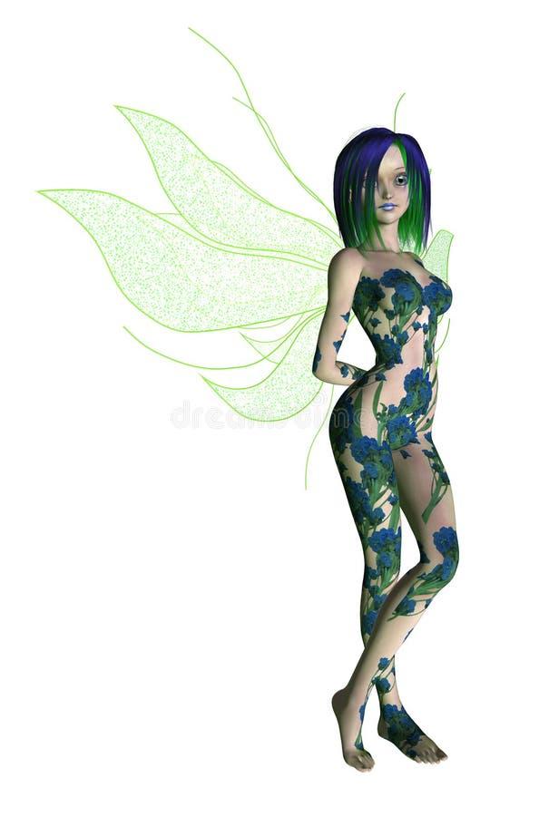 Blue Green Flower Fairy Stock Photography