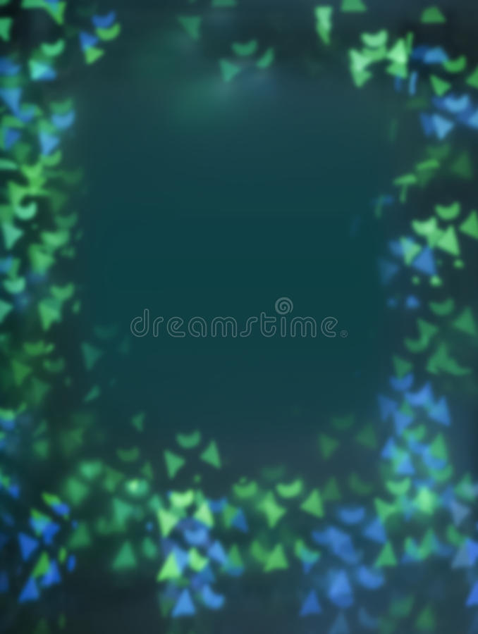 Blue and green geometric bokeh stock photo