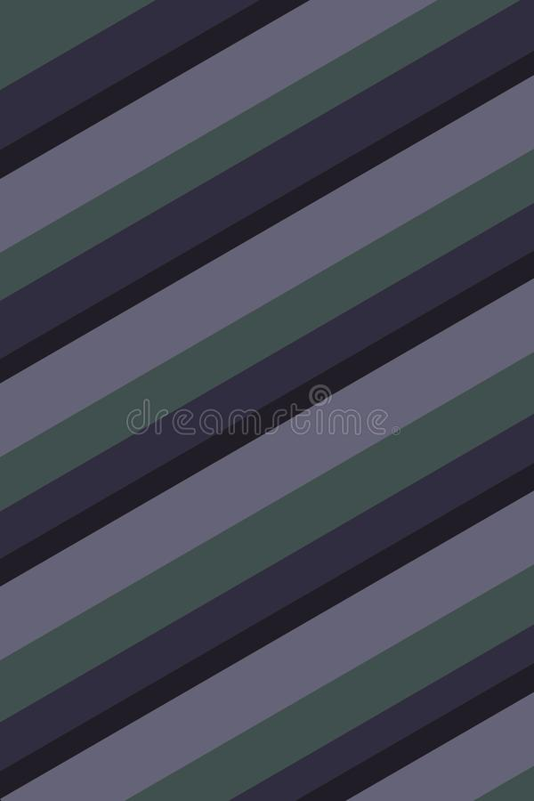 Blue, Green, and Grey Striped Background Texture. Blue, green, and grey stripes create a subdued feeling in this diagonally striped background royalty free illustration