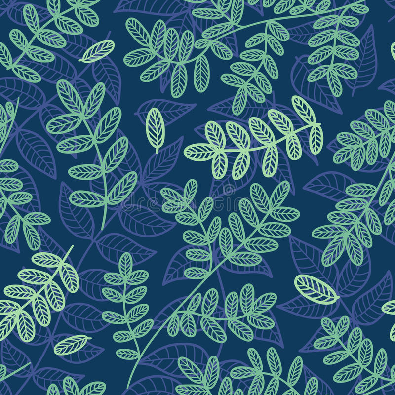 Download Blue And Green Leaves Seamless Pattern. Stock Vector - Image: 24113059