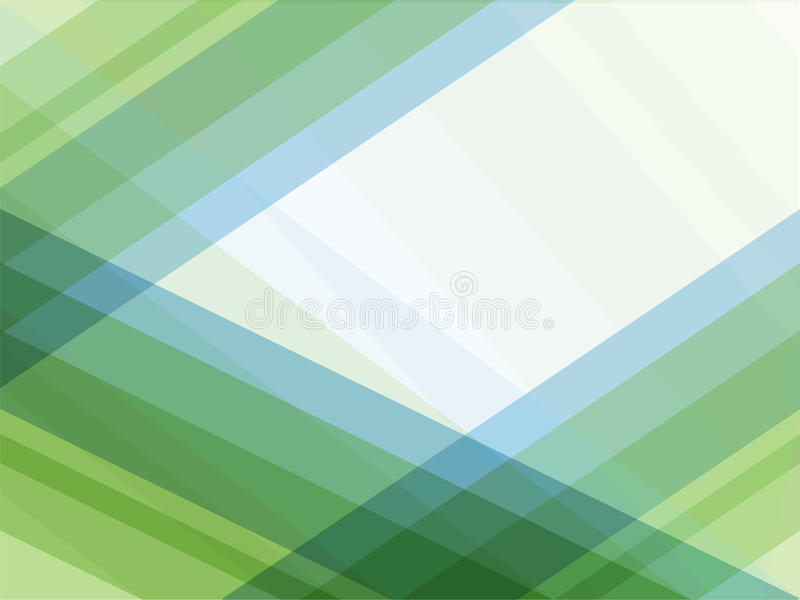 Blue and green lines geometric abstract background stock illustration