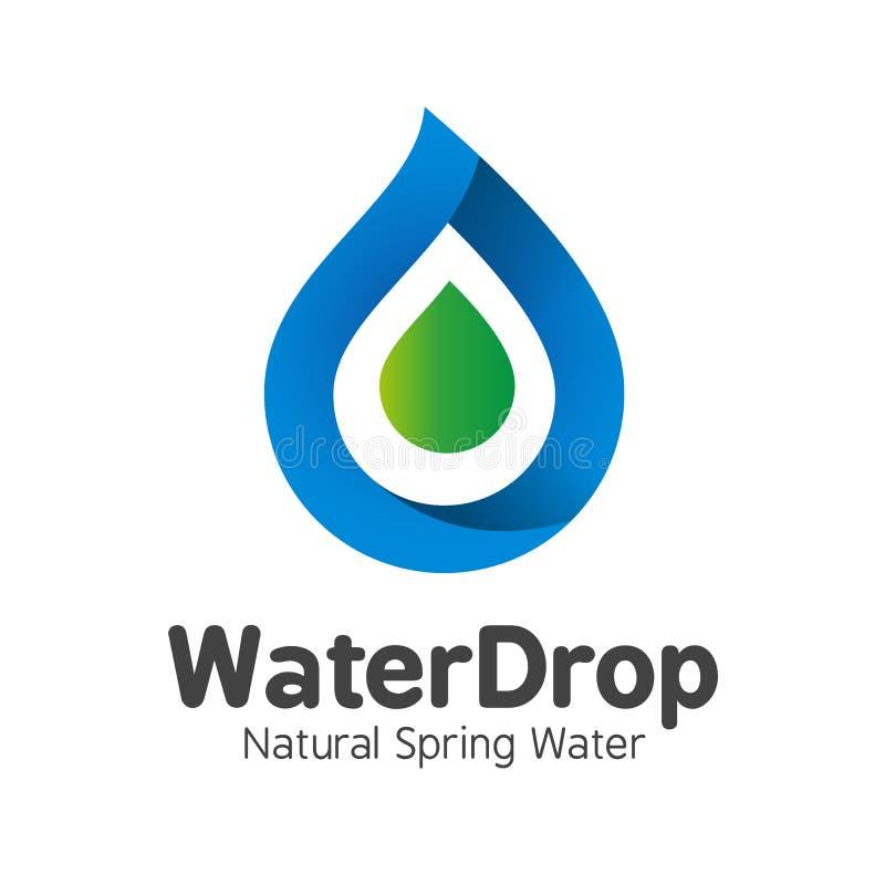Vector Mineral Bottled Spring Water Logo Design Label