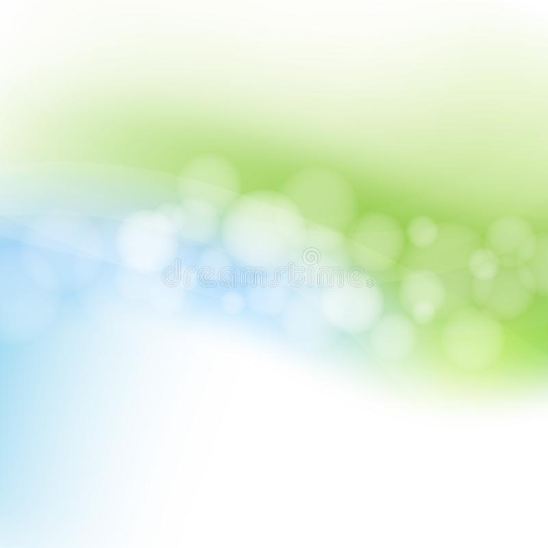 Blue And Green Pastel Line royalty free illustration