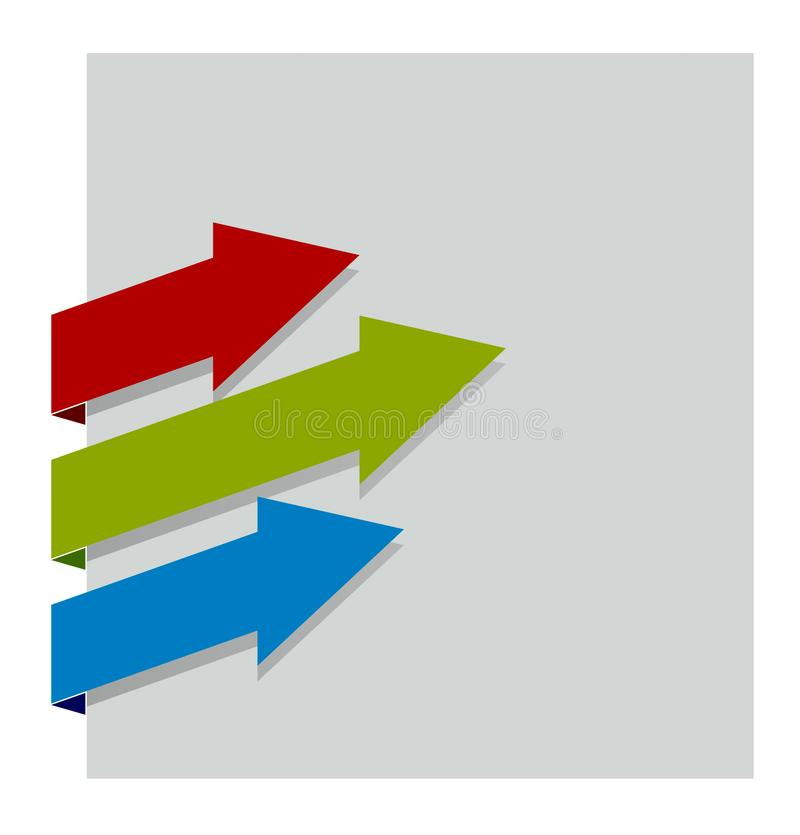 Blue, green and red arrow stock illustration