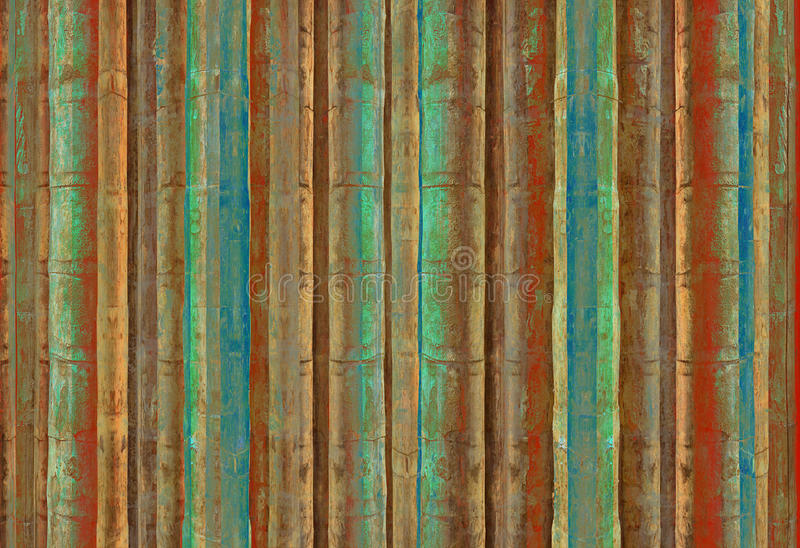 Download Blue Green And Red Bamboo Stripes Stock Photo - Image: 12960932
