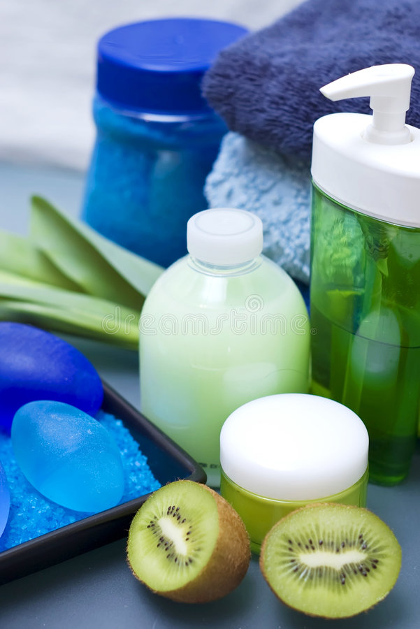 Blue and green spa royalty free stock photography