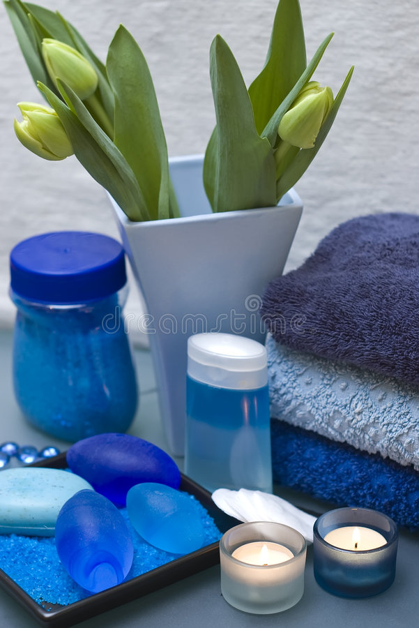 Blue And Green Dining Room: Blue And Green Spa Stock Image. Image Of Being, Dominant