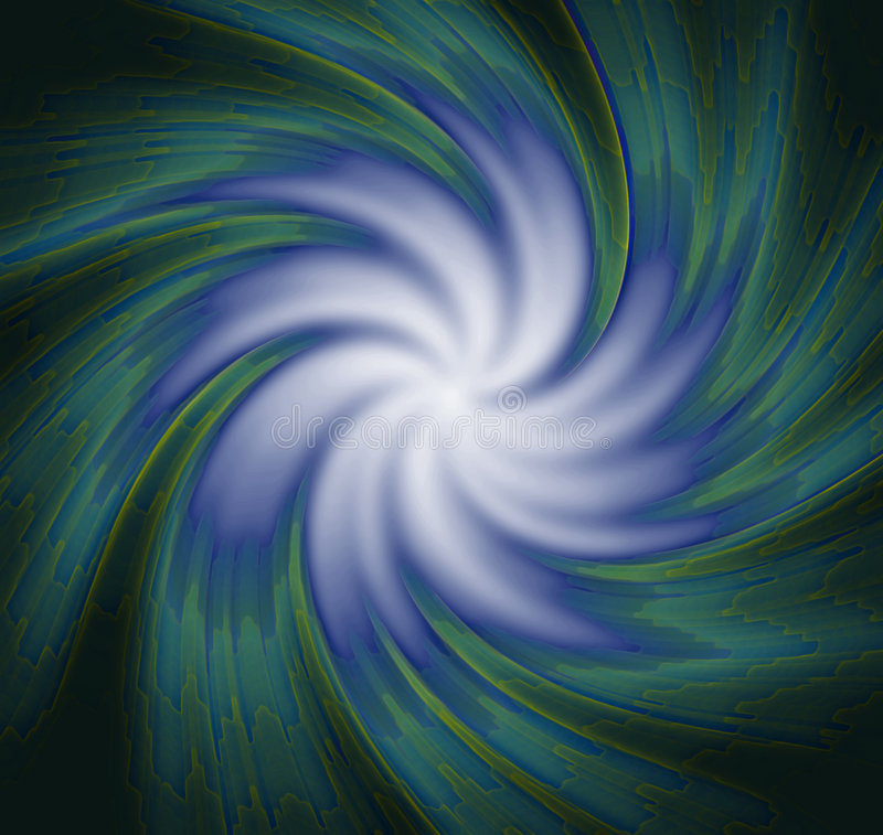 Blue-green spiral wallpaper royalty free illustration
