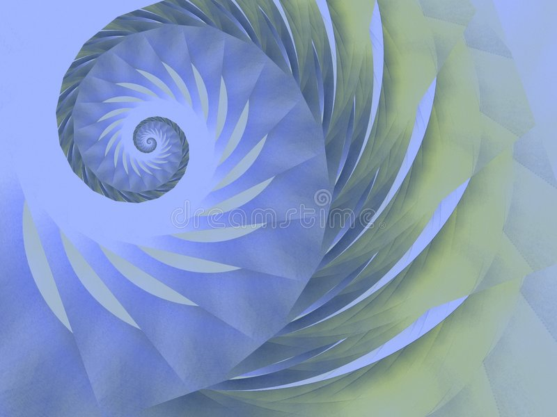 Blue Green Swirl Spiral Design stock photography