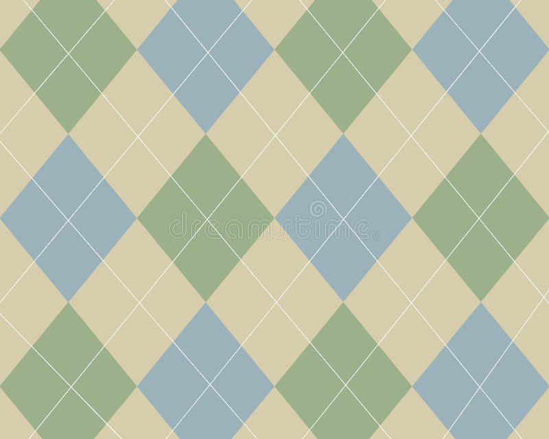 Download Blue, green and tan argyle stock illustration. Image of retro - 3668727