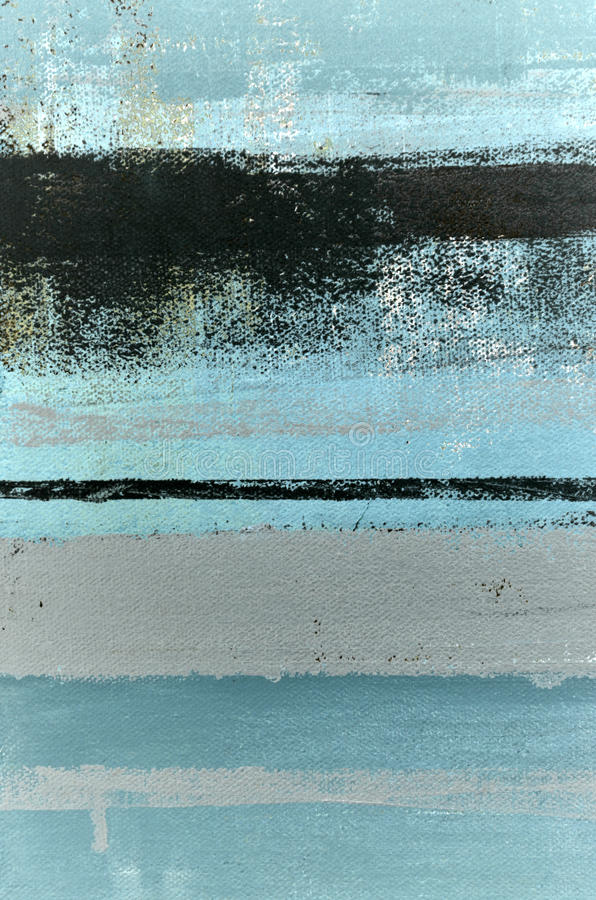 Blue and Grey Abstract Art Painting royalty free stock photos