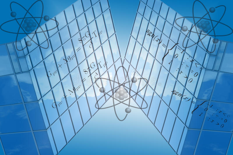 Blue Grid With Math Formulas Royalty Free Stock Photography