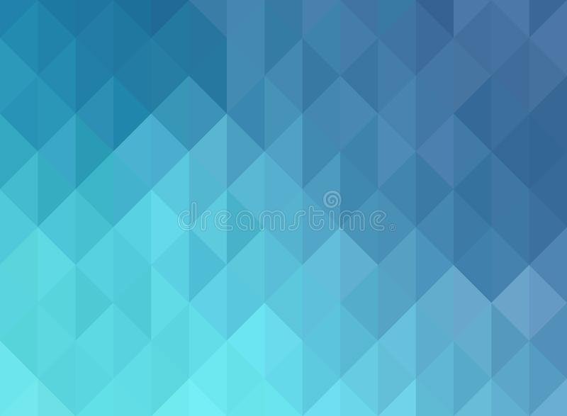 Blue Grid Mosaic Background, Creative Design Templates royalty free illustration
