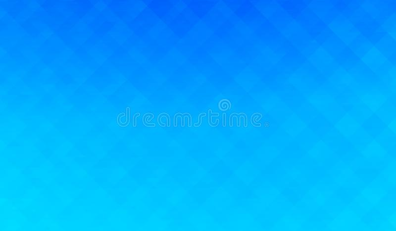 Mosaic background of blue color, creative abstract background stock illustration
