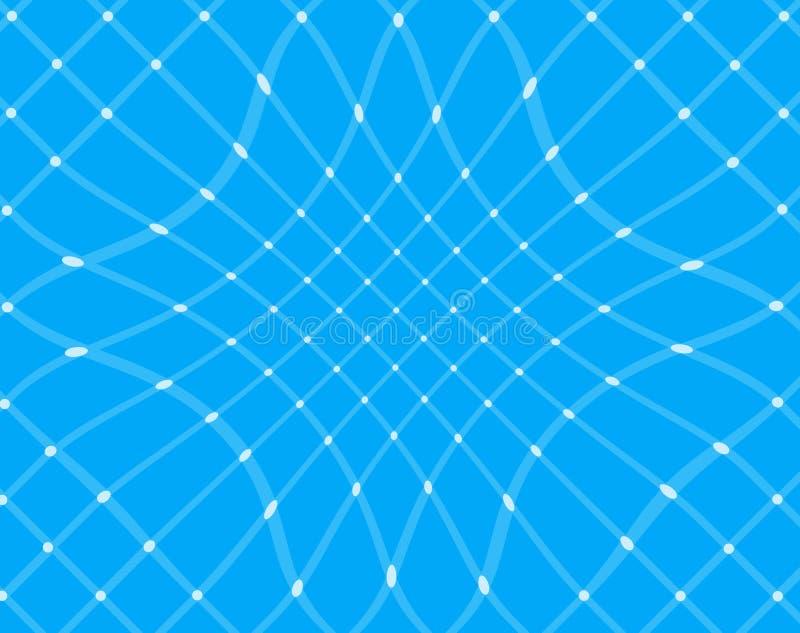 Blue grids background vector illustration