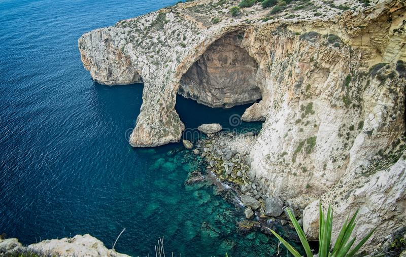 Blue Grotto view from above royalty free stock images
