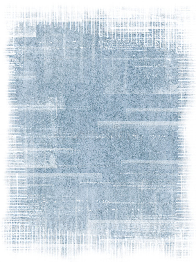Blue Grunge background. Old antique texture with grunge frame royalty free illustration